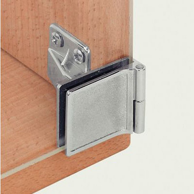 GLASS HINGED CLIP-ON WITHOUT HOLE IN THE GLASS
