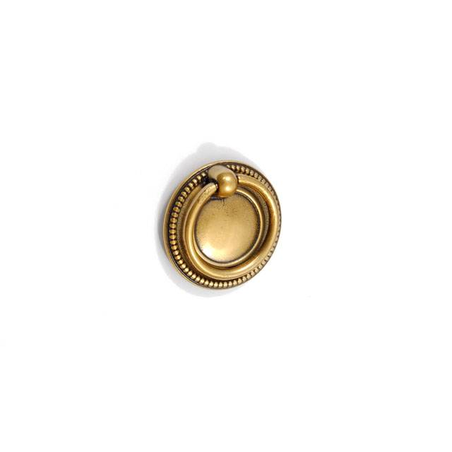 B1005 FURNITURE KNOB DROP RING / ANTIQUE