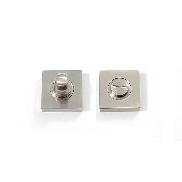 WC LOCK NICKEL-MAT NICKEL 35x35mm