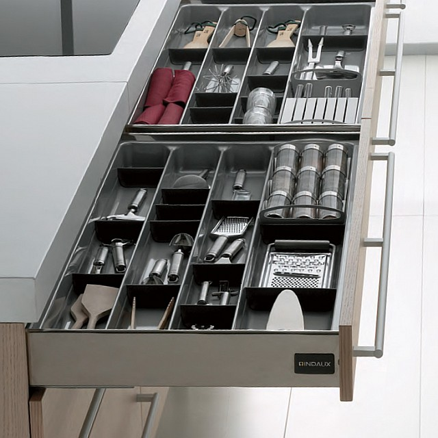 INOX INDAUX SOFT CLOSING WALL DRAWER SYSTEM