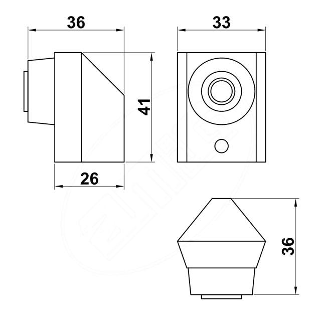 INOX MAGNETIC DOOR RETAINER