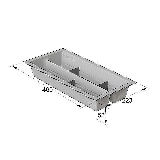CUTLERY TRAY INDAUX / CABINET 30 (22,3x46)