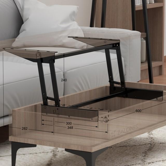 COFFEE TABLE DESK LIFT UP MECHANISM / BLACK