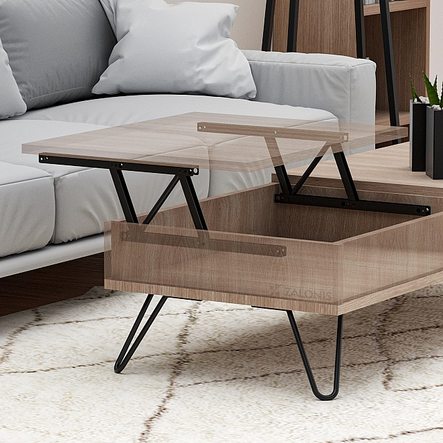 COFFEE TABLE LIFT UP 38 / BLACK