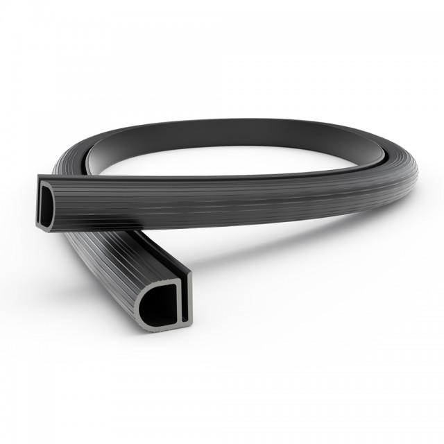 PLASTIC PROFILE 15.5x14.5mm / BLACK