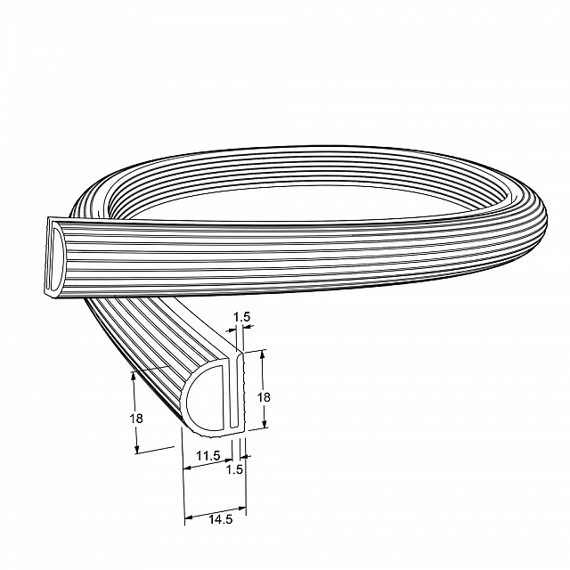 PLASTIC PROFILE 18x11.5mm / BACK