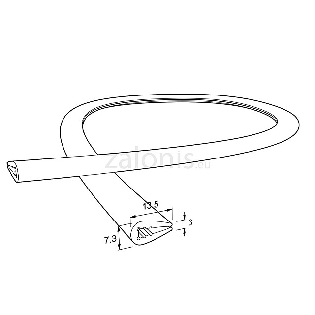 EDGE PROTECTOR PVC PROFILE 3mm / WHITE