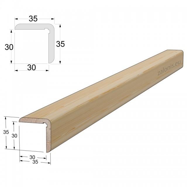 CORNER MOULDING 35x35 / PINE